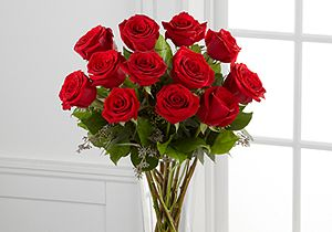 The Red Rose Arrangement